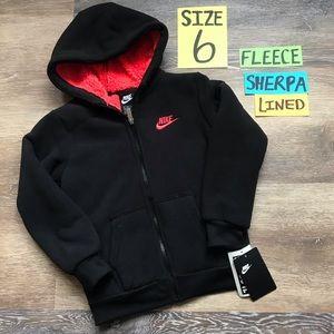 🛍40% OFF Nike Boys Sz 6 Sherpa Lined Fleece Coat